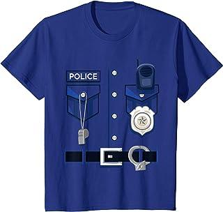 Bambino Costume da poliziotto Maglietta