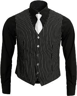 1920s Adult Men's Gangster Shirt, Vest and Tie Costume Accessories Set Roaring 20s Fancy Dress Up Outfit Suit