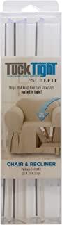 Best SureFit Tuck Tight for Chair and Recliner Slipcovers Couch Cover Holder with Grip Strips, 11.75, Clear Review