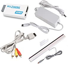 $20 » Sponsored Ad - 4 in 1 Accessories Bundle Kits for Wii, AC Power Supply Adapter + Composite Audio Video Cable + Wii to hdmi...