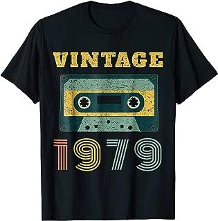 40th Birthday Gift Vintage 1979 Year Old Mixtape T-Shirt