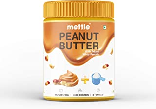 Swasthum Mettle High Protein Peanut Butter 400g (With Added Whey Protein) (Non-GMO, Gluten Free)