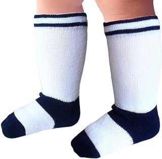 Calcetines hasta la rodilla bebés niño costura plana para pies sensibles