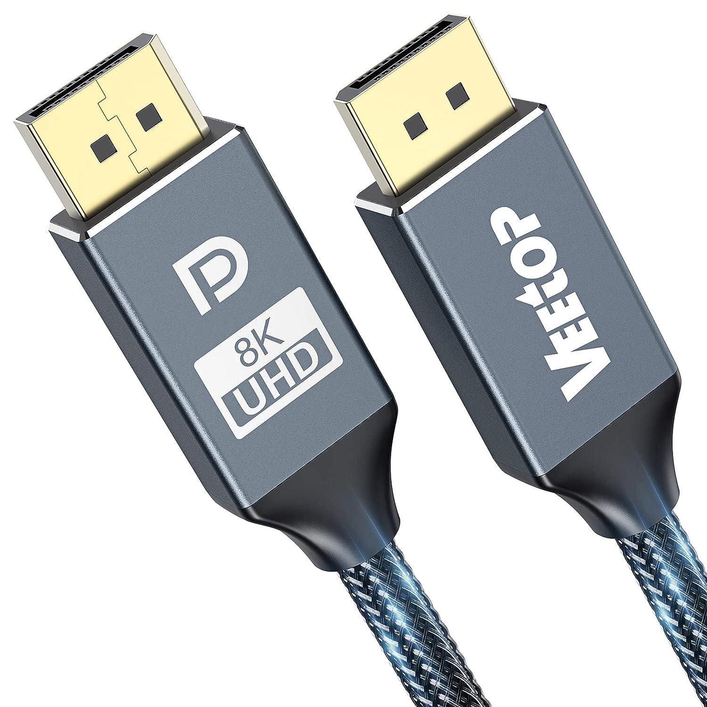 8K DisplayPort Cable 1.4 3.3ft 40% OFF Cheap Sale San Jose Mall 4K@14 Veetop DP 8K@60Hz