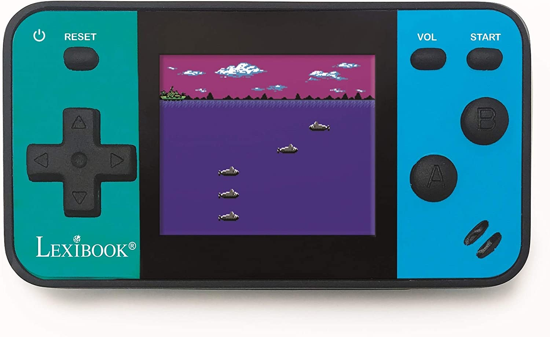 LEXIBOOK- Consola portátil Cyber Arcade Mini 8 Juegos, Pantalla LCD en Color de 1,8 Pulgadas (4,5 cm), Videojuegos para Adolescentes, Azul/Negro