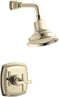 KOHLER TS16234-3-AF Margaux(R) Rite-Temp(R) Shower Valve Trim with Cross Handle and 2.5 gpm showerhead