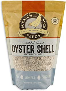 Scratch and Peck Feeds - Cluckin' Good Oyster Shell Supplement for Chickens and Ducks - Flaked - 4-lbs