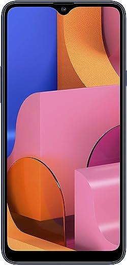 """Samsung Galaxy A20s (32GB 2GB RAM) 6.5"""" HD+ Triple Camera SM-A207F/DS 4G LTE (AT&T Europe Asia Africa Cuba Digitel) Dual SIM GSM Factory Unlocked - International Version - No Warranty (Blue)"""
