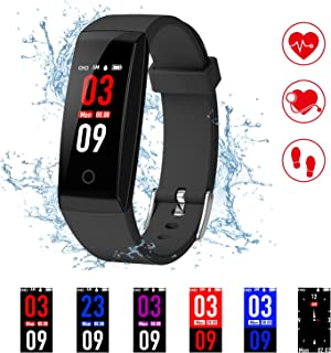Fitness Tracker, Colorful Screen Smart Bracelet with Heart Rate Blood Pressure Monitor,Smart Watch Pedometer Activity Tracker Bluetooth for Android & iOS