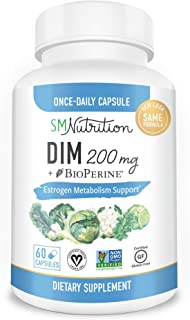 Best DIM Supplement 200mg - DIM Diindolylmethane Plus BioPerine 60-Day Supply of DIM for Estrogen Balance, Hormone Menopause Relief, Acne Treatment, PCOS, Bodybuilding Reviews
