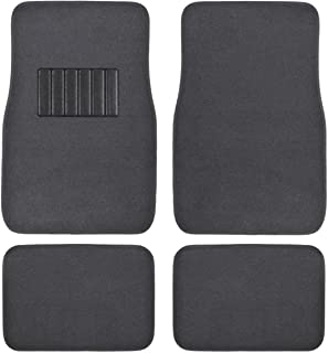 BDK MT-100-DG Classic Carpet Mats for Car SUV Van & Truck-Universal Fit Front & Rear Floor Protection with Heelpad (Dark Gray)