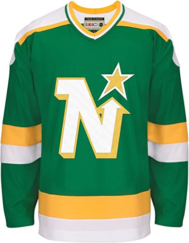 Minnesota North Stars CCM Adidas NHL Hommes's  Team Classic  Authentic vert Jersey Maillot
