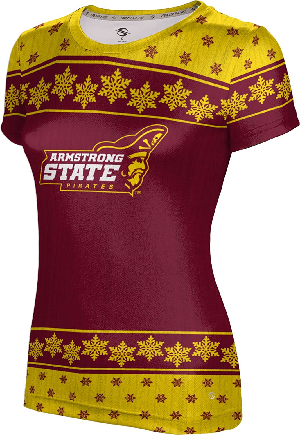 Armstrong State University Ugly Holiday Girls' Performance T-Shirt (Snowflake)
