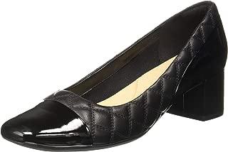 Clarks Women's Tealia Sera Black Combi Lea Leather Pumps