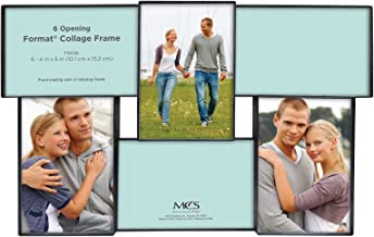 MCS Front-Loading Collage Picture Frame with 6 Openings, 4 x 6, Black