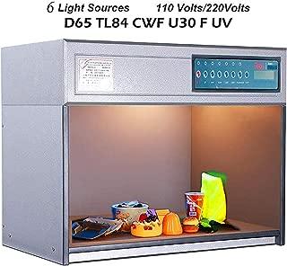 VTSYIQI Color assessment cabinet box Color Matching Cabinet D65 TL84 CWF U30 F UV 6 light sources P60 American style Voltage 110V/220V