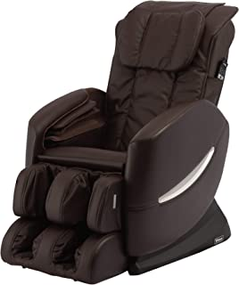 Titan TI-Comfort 7 Full Body Massage Chair - S Track Design, Air Massage, Computer Body Scan, and 6 Massage Styles (Brown)