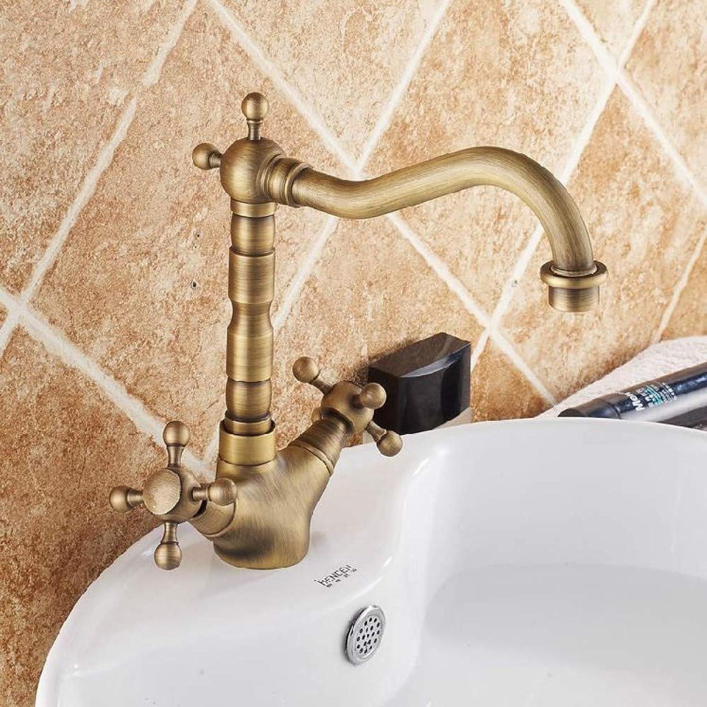 Floungey BadinsGrößetionen Waschtischarmaturen Küchenarmaturen Waschtischarmaturen Antike Bronze Messing Swivel Waschbecken Wasserhahn 2 Hebel Deck WcMixer Wasserhhne Wc Wasserhhne