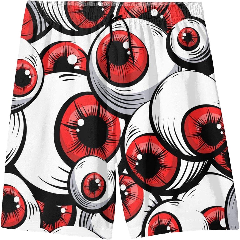 Fairy UMI Monster Eyeball Teen Boys Quick Dry Surf Swim Trunk Print Youth Summer Beach Board Shorts