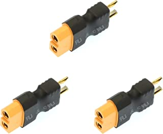 Apex RC Products No Wire Male Ultra T Plug (Deans Style) -> Female XT60 Adapter - 3 Pack #1252