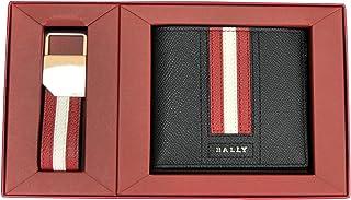 (バリー) BALLY TEISEL メンズ 二つ折り財布&キーリングセット ブラック [並行輸入品]