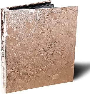 Photo Album Premium Leather Album Sean Bonded Bi-Directional Album 600 Pockets Hold 4x6 Photos Used for Family Wedding Anniversary Baby Vacation (Rose Gold)