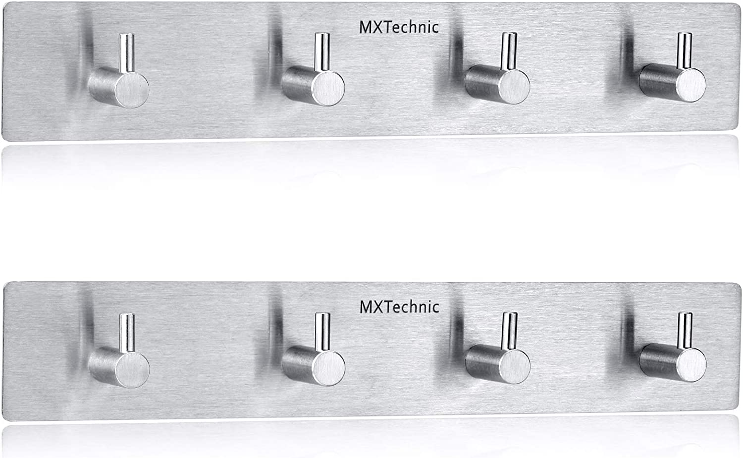 MXtechnic Self Adhesive Max 76% OFF Key Hooks Steel Year-end gift He and Hanger Stainless