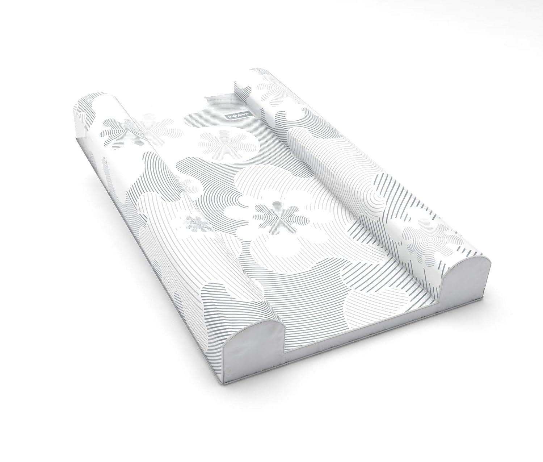 BabyDam SuperSnug Baby Changing Mat - Grey/White