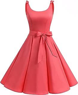 hot pink 50s dress