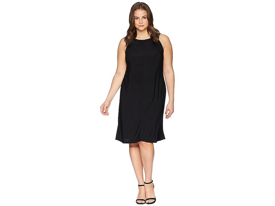 KARI LYN Plus Size Ina Halter Neck Dress (Black) Women