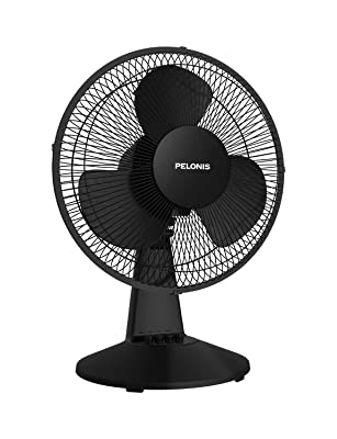 PELONIS PFT30T2ABB-V Box Fan, 2020 New Model Black Table