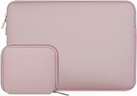 MOSISO Water Repellent Neoprene Sleeve Bag Cover Compatible 13-13.3 Inch Laptop with Small Case, Baby Pink