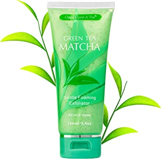 Green Tea Matcha Gentle Foaming Exfoliator, Best Exfoliating Face Wash For Men & Women, Deep Cleansing & Reduces Clogged P...