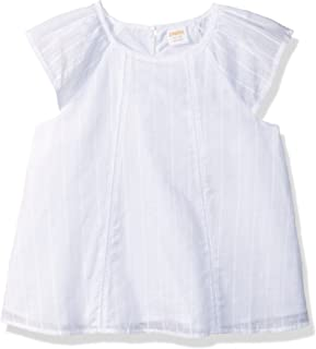 Gymboree Girls' Big Flutter Sleeve Woven Top