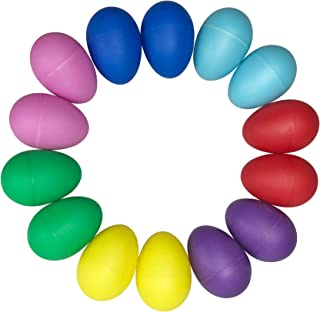 14 Pieces 7 Different Colors Plastic Egg Shakers set Musical Eggs Maracas Eggs for Kids Party Musical Toys
