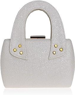 Clutch Handbag Dress Sequin Crossbody Bag Dinner Shoulder Bags Woman Champagne Wallet Evening Dress Cosmetic Bag Pocket (18×5×12cm)