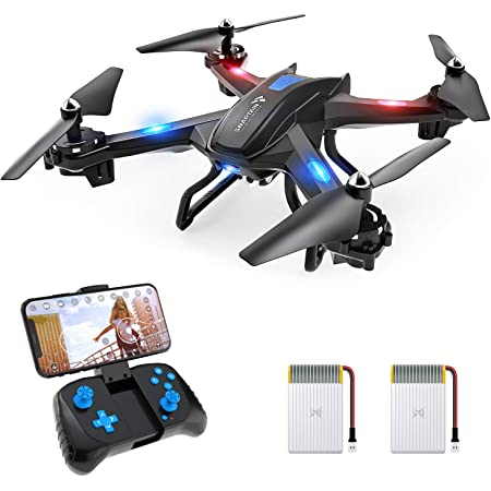 SNAPTAIN S5C WiFi FPV Drone with 2K Camera,Voice Control, Wide-Angle Live Video RC Quadcopter with Altitude Hold, Gravity Sensor Function, RTF One Key Take Off/Landing, Compatible w/VR Headset