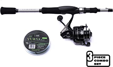 Fitzgerald Fishing Spinning Rod-and-Reel Combo - Stunner Spinning Reel + Vursa Spinning Rod + Braided Fishing Line for The Perfect Holiday Fishing Gift