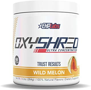 EHPlabs OxyShred Thermogenic Fat Burner Boost Metabolism, Low Stimulant, Destroy Stubborn Fat Cells (Wild Melon)