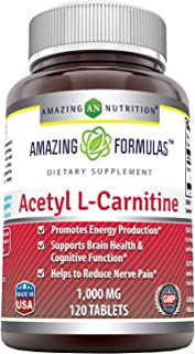 Amazing Nutrition Amazing Formulas Acetyl L-Carnitine For Energy Production, Supports Brain Health & Cognitive Function, H...