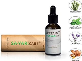 Sayar Care RETAIN Hair Loss Therapy (Men/Women All Hair Types) All Natural Ingredients - Hair Growth Formula - Prevent Hair Thinning - Clinically Tested Ingredients - Balding & Hair Loss Supplement