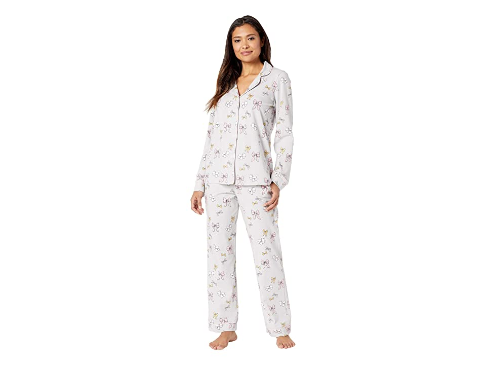 BedHead Long Sleeve Classic Notch Collar Pajama Set (All Tied Up) Women