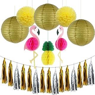 Mariages 10cm // 4inch Ball Blanc Sky 9 x Boules en nid dabeille d/écorations f/ête
