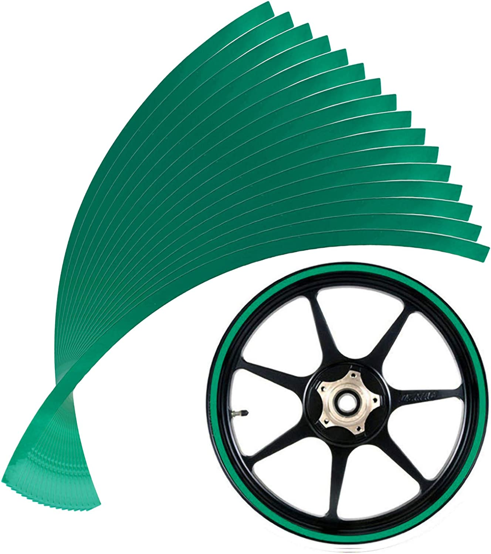 Andux Land 10mm Max 77% OFF Reflective Rim Popularity Tape Set Wheel 16pcs Stripe Decal