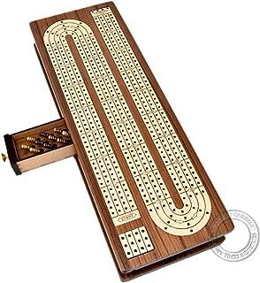 teak cribbage board