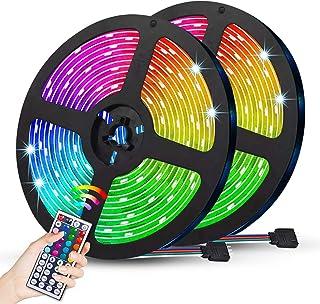JMEXSUSS 32.8ft 600 LED Strip Lights Flexible,5050 SMD RGB Led Strip Light, Waterproof Tape Strip Light Color Changing