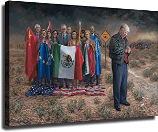 US President Trump Painting Wall Art, HD Donald John Trump Picture Print on Canvas, Trump..