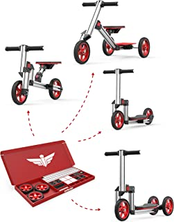 Infento Go Kit | Modular 4 in 1 Building Kit | for Children Aged Between 2 and 6 Years Old | Create a Scooter, a Balance Bike or a Trike