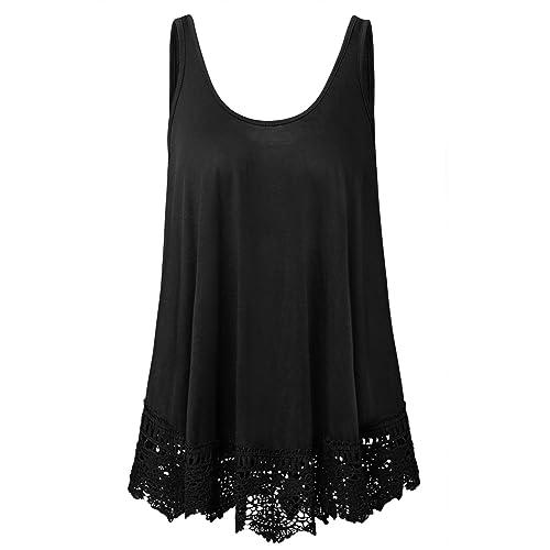 201a8826e36 Plus Size Swing Lace Flowy Tank Top for Women