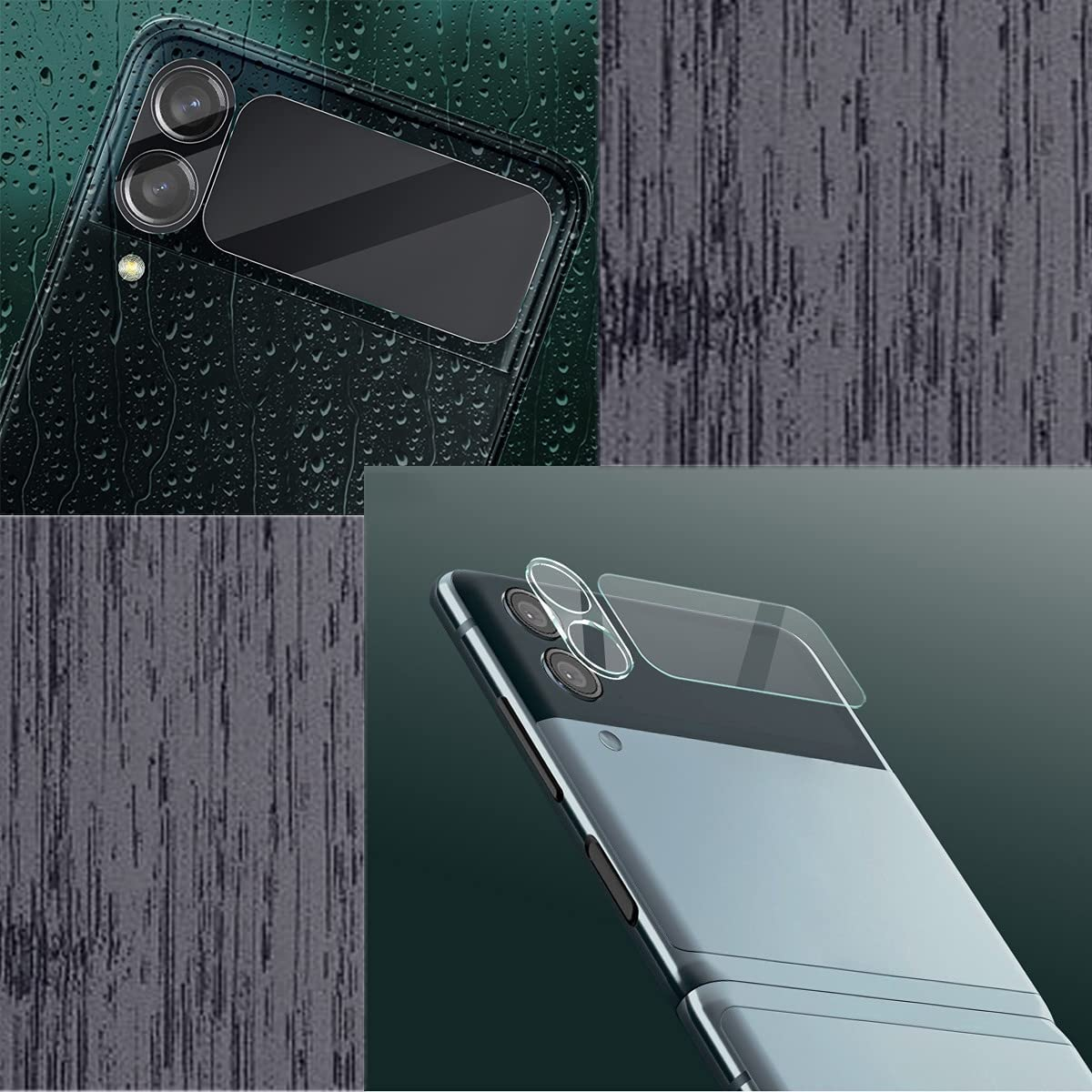 Koconh Apply to Samsung Galaxy Z Flip 3 5G Cellphone Case - Lens Protective Film - Durable, Shock-Proof, Scratch-Resistant and Drop-Proof